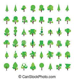 Set of tree icon