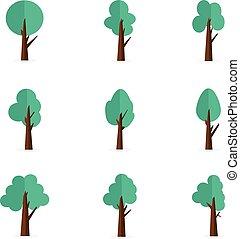 Set of tree vector flat