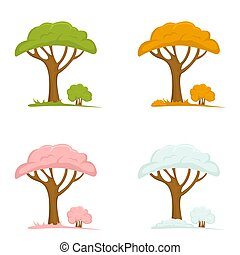 Set of Trees in the Seasons