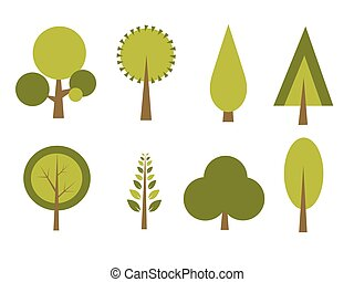 Set of trees vector illustration