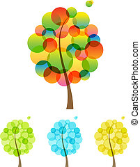 Set of trees. Vector illustration.