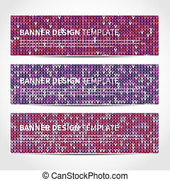 Set of trendy Christmas banners templat