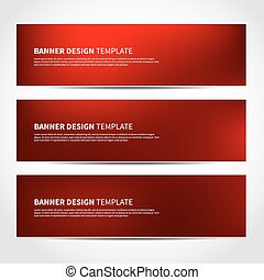 Set of trendy Christmas red banners