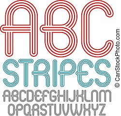 Set Of Trendy Modern Vector Capital Alphabet Letters Abc Isolated Disco Rounded Font For