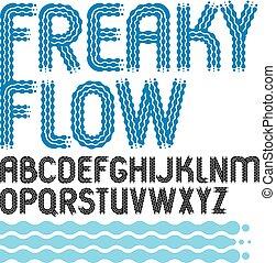Set of trendy pop vector upper case English alphabet letters...