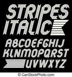 Set Of Trendy Vector Capital Alphabet Letters Isolated Geometric Italic Bold Type Font Script