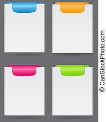 Set of trendy web banners vector illustration