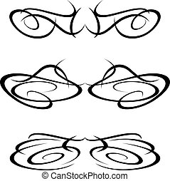 Tribal art tattoo design elements