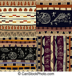 Set of Tribal painting