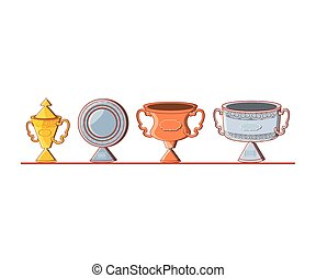 set of trophies icons