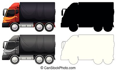Set of truck vehicle