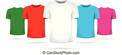 Set of tshirts with different colors