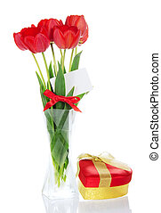 Set of tulips for greetings and gift