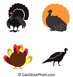Set of turkey icons
