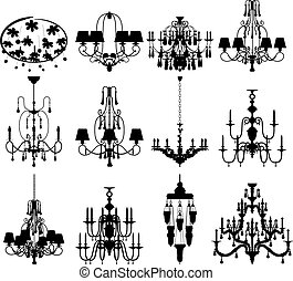 Set of twelve silhouettes