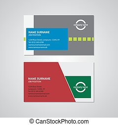 set of two business cards - 3,5 x 2in