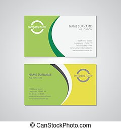 set of two business cards