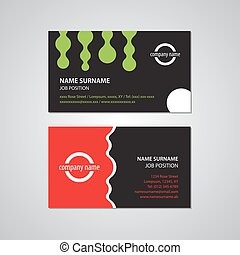 set of two business cards - USA standard