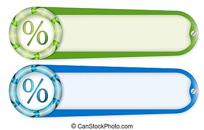set of two buttons with arrows and percent symbol