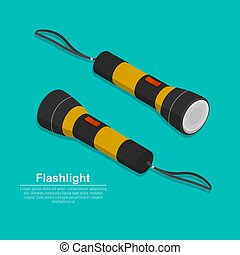 Set of two electric torches