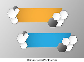 Set of two empty color vector icons