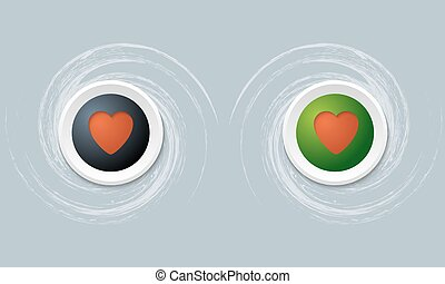 set of two icon and heart