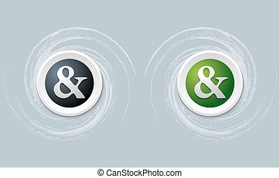 set of two icon with ampersand