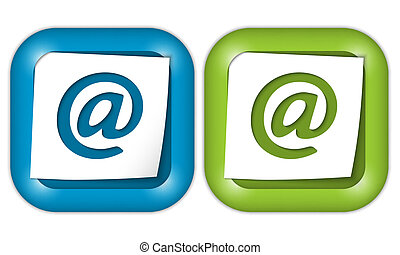 set of two icons with email icon
