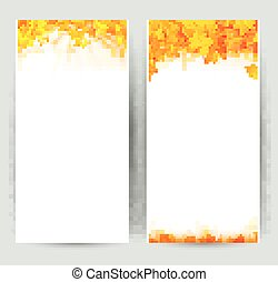 Set of two nature banners with autumn leaves.