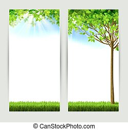 natures banners - set of two natures banners