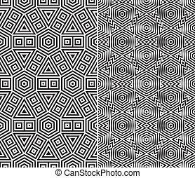 Set of Two Seamless Patterns