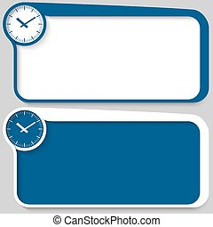 set of two vector text box and watches