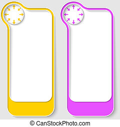 set of two vector text boxes with arrows
