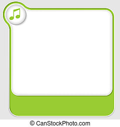 set of two vector text boxes with music icon