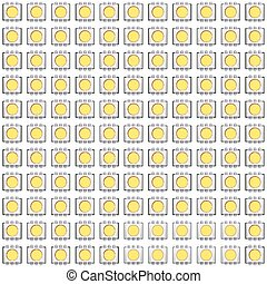 Set of typical LED seamless pattern. Vector Illustration...