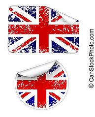 Set of UK labels