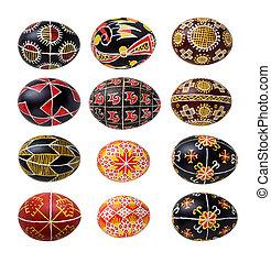 Set of Ukrainian Easter eggs