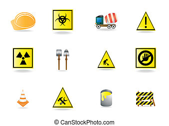under construction icons - Set of under construction icons,...