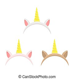Set of unicorn headbands
