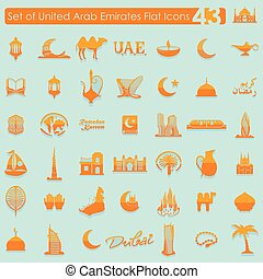 Set of United Arab Emirates icons - Set of United Arab...