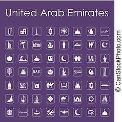 Set of United Arab Emirates simple icons