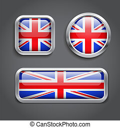 United Kingdom Flag buttons