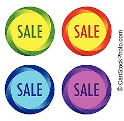 Set of unusual Sale labels