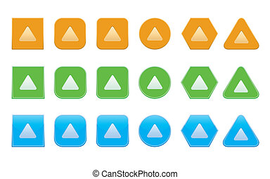 set of up arrow icons