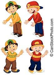 Set of urban boy character