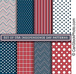 Set Of Usa Independence Day Pattern