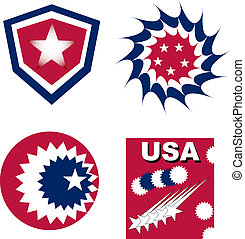 set of usa independent greetings