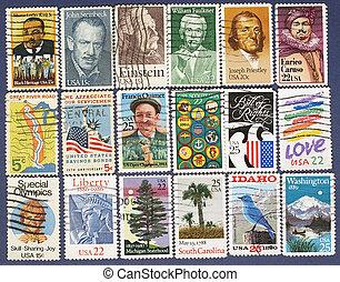 USA postage stamps.