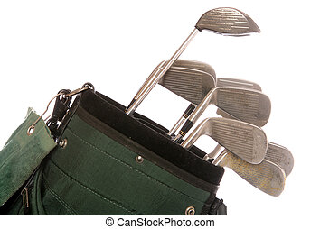 set of used golf clubs