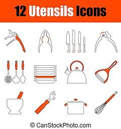 Set of Utensils Icons